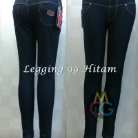 BAJU WANITA BLOUSE MUSLIM legging 99 bahan jeans denim size 2XL-5XL