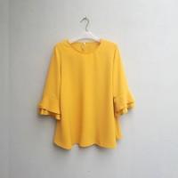 BAJU TERBARU [NEW] Blouse Wanita Big Size 2L, 3L, 4L & 5L Warna Kuning