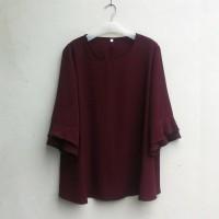BAJU TERBARU [NEW] Blouse Wanita Big Size 2L, 3L, 4L & 5L Warna Coklat