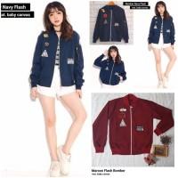 baju model sekarang butik online murah Jaket Wanita Flash Bomber