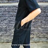 Gamis Pria Premium model gamis pakistan kurta arab hitam -D119