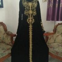 gamis abaya arab hitam inayah