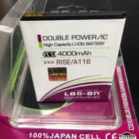 Baterai Battery Coolpad Rise A116 Dobel Power Log On 4000mah