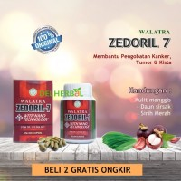 Walatra Zedoril 7 - Obat Kanker / Tumor / Kista