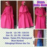 Faaza Rain Coat Size XL- Jas Hujan Wanita Muslimah Lengkap Khimar&Tas