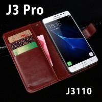 Flip Cover Samsung Galaxy J3 Pro/Prime J3119 Leather Case Wallet Card