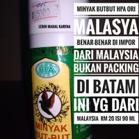 minyak butbut but but HPA 90 ML RM20 benar2 ORI Packing di MALAYSIA
