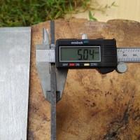 Tool steel Bohler K110 Tebal 5mm setara AISI D2 Plat Baja High Carbon