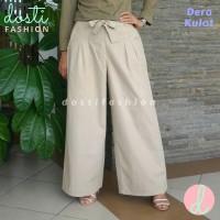 Celana Kulot Panjang Wanita Bahan Katun Linen Rami Import Premium