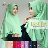 Scarf Hijab Instan Jilbab Syari Khimar Syar'i Kerudung Bergo Janira