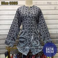 Blus 0385 / batik muslim lengan panjang / blouse kantor / Batik Binzah