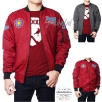 Bomber 2in1 Absolute Merah / Bomber Cowok / Jaket Bomber Murah