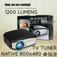 Promo!! mini lcd projector proyektor murah tv tuner cheerlux c6 c-6