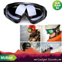 Kacamata Google Ski - Kacamata Motor Cross - Kacamata Offroad Soft Gun
