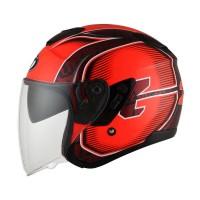 FBO - KYT KYOTO 2 Andi Gilang Replica Helm Half Face - Red