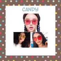 kacamata frame sunglasses glasses cat eye jelly geely candy transparan