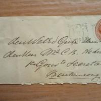 Amplop Berjalan th 1898 (umur 119 th) Perangko Ned, Indie Willem III