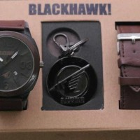 JAM TANGAN BLACKHAWK PAKET BH02 DARK BROWN BARU