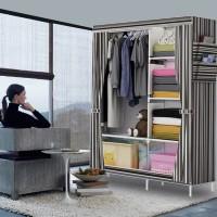 Lemari pakaian rakit, rakitan, simple, simple, tanpa pintu, terbaru