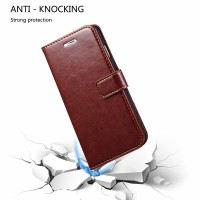 Lenovo A7700 Flip Wallet Leather Tpu Holder Cover Stand Case