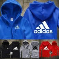 Jaket Hoodie Sweater Jumper Halfzipper New Logo Adidas Murah
