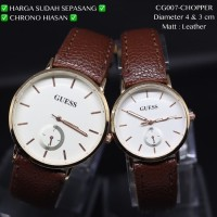 Jam tangan couple guess tali kulit leather fossil skmei dkny casio qnq