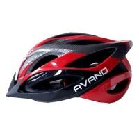 Jual Helm Sepeda Avand Ada Lampu Belakang Merah Hitam Promo