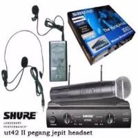 Murah Mic Shure Ut 42 Pegang Jepit Headset