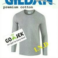 PROMO Kaos Polos Gildan Lengan Panjang Sport Grey