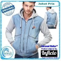 Jaket Jeans Pria Hoodie Murah Sporty Original Distro Bandung SPI370 e13df9f890