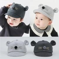 topi baseball anak import motif kucing usia 1-3 tahun bagus SKU-TBK