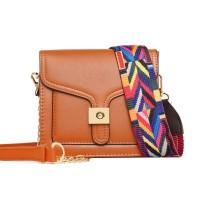 Tas Selempang Wanita Cewek Shoulder Bag Yellow Brown Mall Pergi