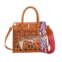 Tas Wanita Import Jinjing Handbag Yellow Brown