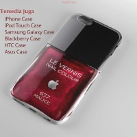 Red Maroon Malice apple Nail Poilsh iphone 5 Phone Case Semua Type HP
