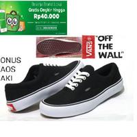 Sepatu Pria/wanita Vans Authentic Casual/sekolah Black
