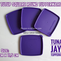 Tutup / Seal Rainbow Collection , Toples Square Round Tupperware