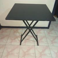 free ongkir via gosend meja lipat 60x60 meja makan/ kantor/cafe/resto