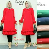 Baju Atasan Wanita Muslim Blouse Zoya Tunik