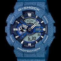 JAM TANGAN CASIO GSHOCK GA-110 ORI-BM RUBBER BLUE DENIM