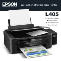 PRINTER EPSON L-405 (PRINT, SCAN, COPY, WIFI) QUALITAS GOOD ORI (SNI)