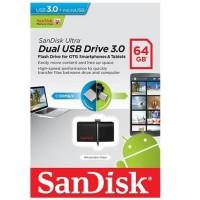 Sandisk Ultra Dual OTG USB Flash Drive USB 3.0 64GB Aksesoris HP Resmi