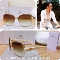 kacamata fashion wanita swarovski 26068 sunglasses
