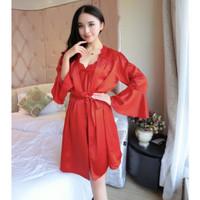 Bajutidur Wanita Kimono Lengan Panjang Baju Tidur Seserahan Nikah