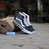 Sepatu Vans 50th Sk8-Hi Pro Checkerboard Navy Murah Premium Original