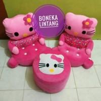 Sofa Anak Karakter Set Boneka Hello Kitty