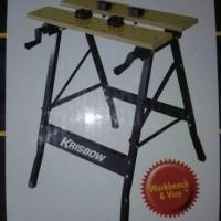 krisbow workbench portable / meja table bantu pertukangan gergaji dl