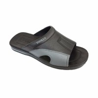 YOUKEN HOKI 101 SANDAL PRIA KARET SELOP BLACK GREY BEST MODEL