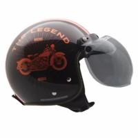 Helm Motor Cargloss Paket CF Retro Legend dan Visor Bogo BEST QUALIT