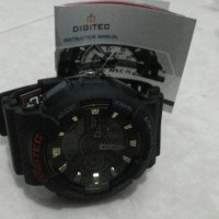 jam tangan digitec dualtime black murah surabaya