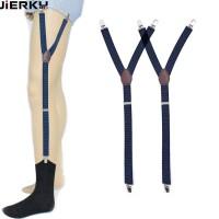 Men Shirt Holder Leg Suspender Shirttail Garters Stays Kemeja